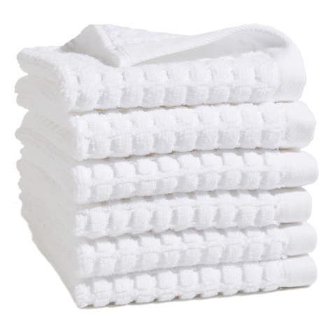 DKNY White Washcloths
