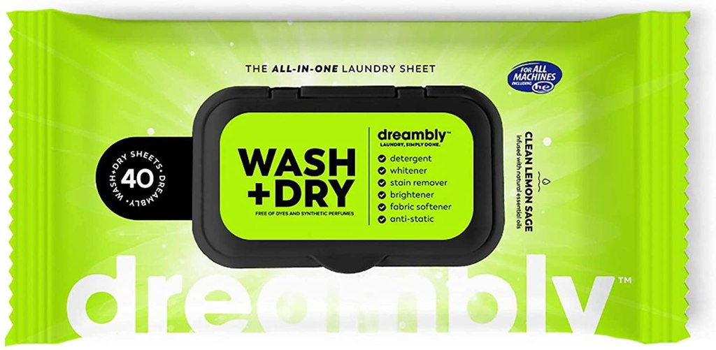 Dreambly Natural Laundry Detergent Sheets for Washer and Dryer