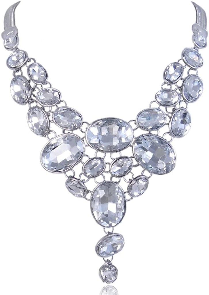 EVER FAITH Art Deco Statement Necklace