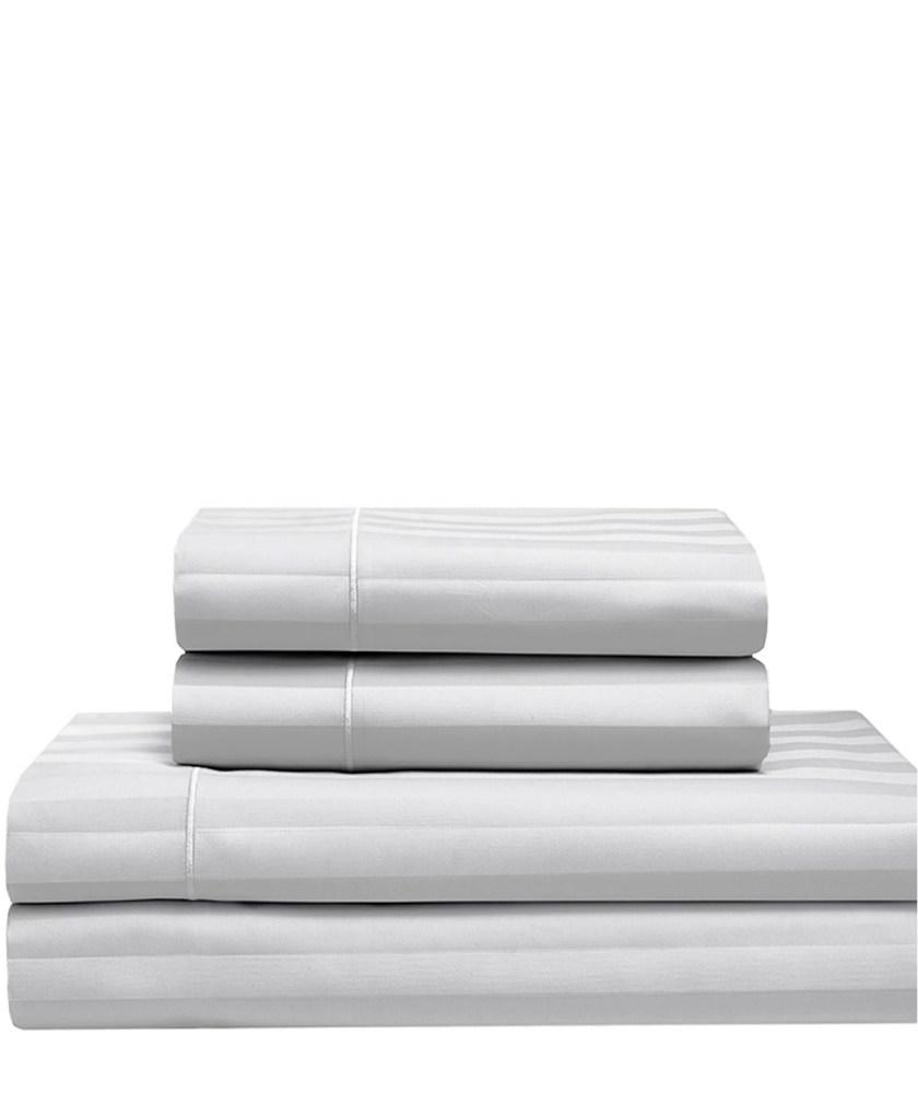 Elite Home Satin Cooling Cotton Queen Sheet Set