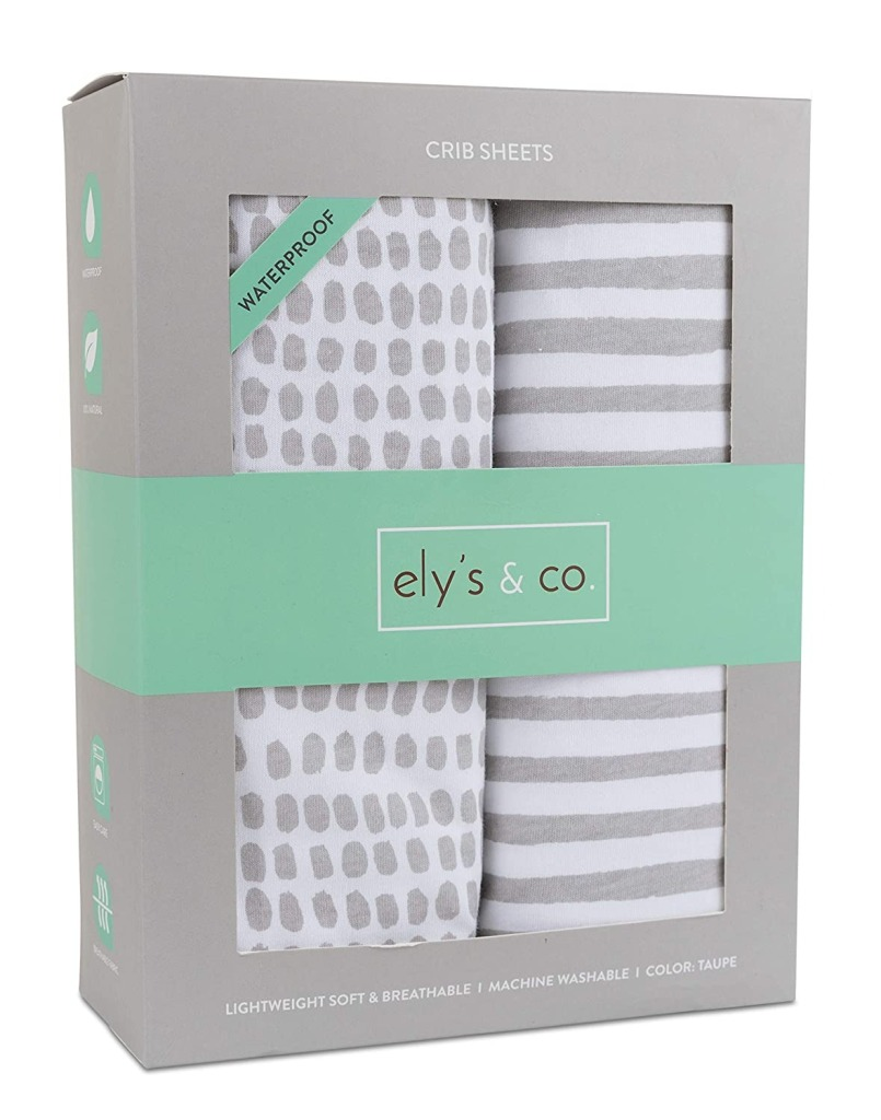 Ely's & Co. Waterproof Crib Sheet