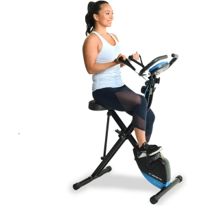 exerpeutic resistance bands bike, foldable exercise bikes