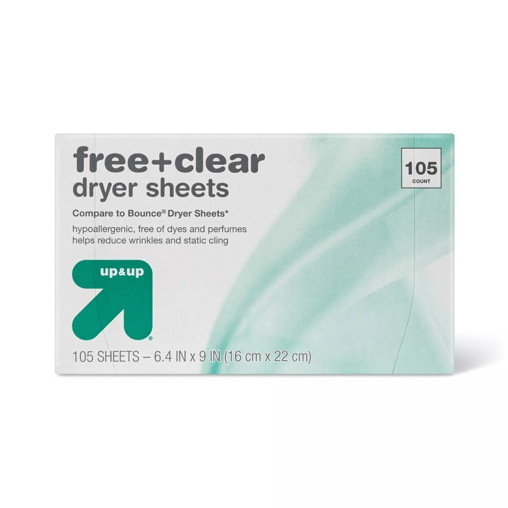 Free & Clear Up & Up Dryer Sheets