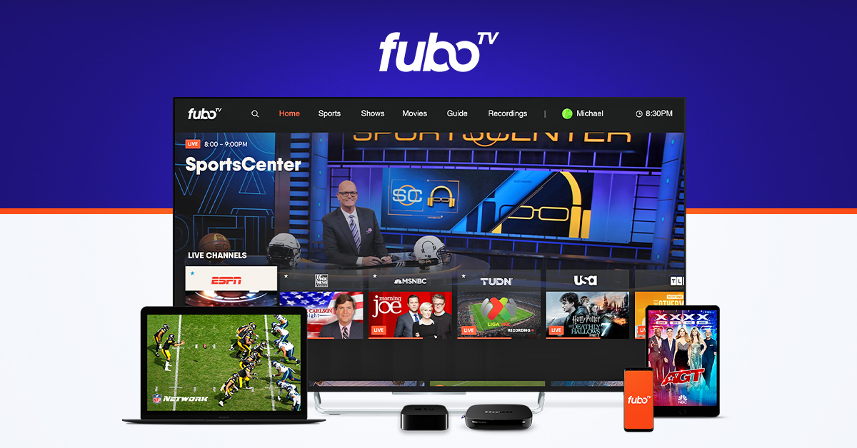 FuboTV devices and channels
