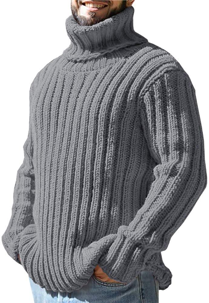 Gafeng Mens Turtleneck Sweater