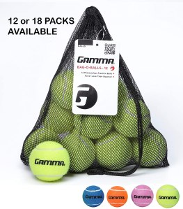 gamma bag of pressureless tennis balls