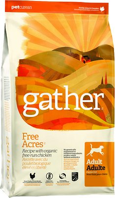 gether free acres organic free run chicken dry dog food