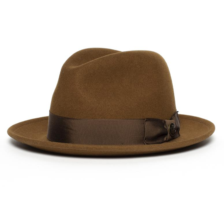 Goorin Bros. Dean the Butcher fedora hat in whiskey