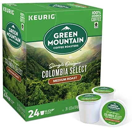 Green Mountain Coffee Colombia Select, Single-Serve Keurig K-Cup Pods BEST FOR K-CUPS