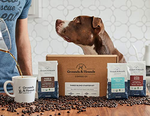 Grounds and hounds coffee with dog being cute coffee deals