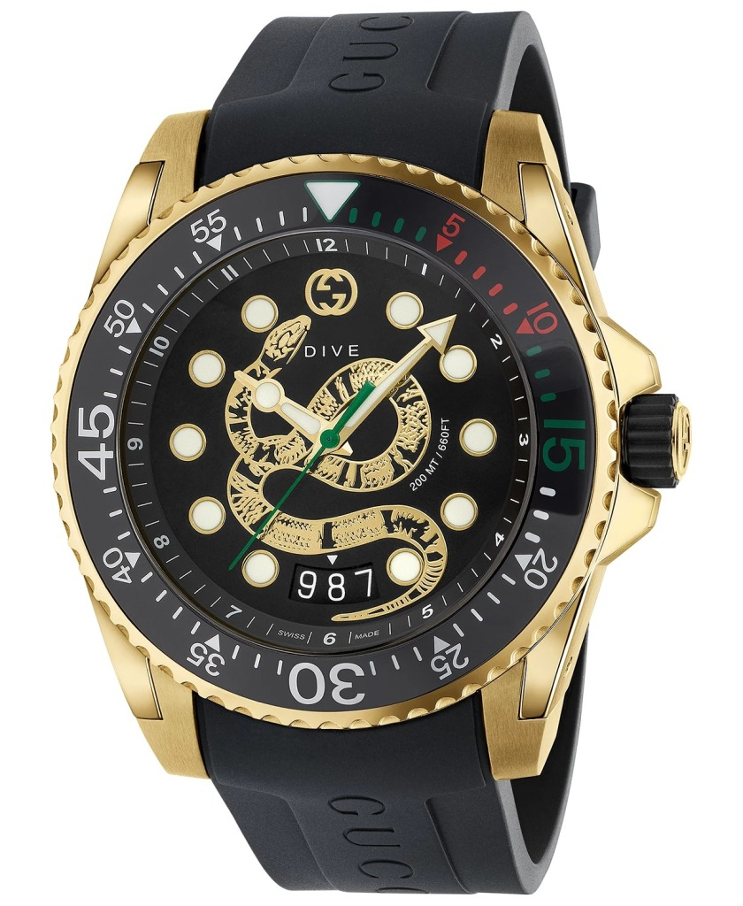 Gucci-Swiss-Diver-Watch-Rubber-Strap-40mm