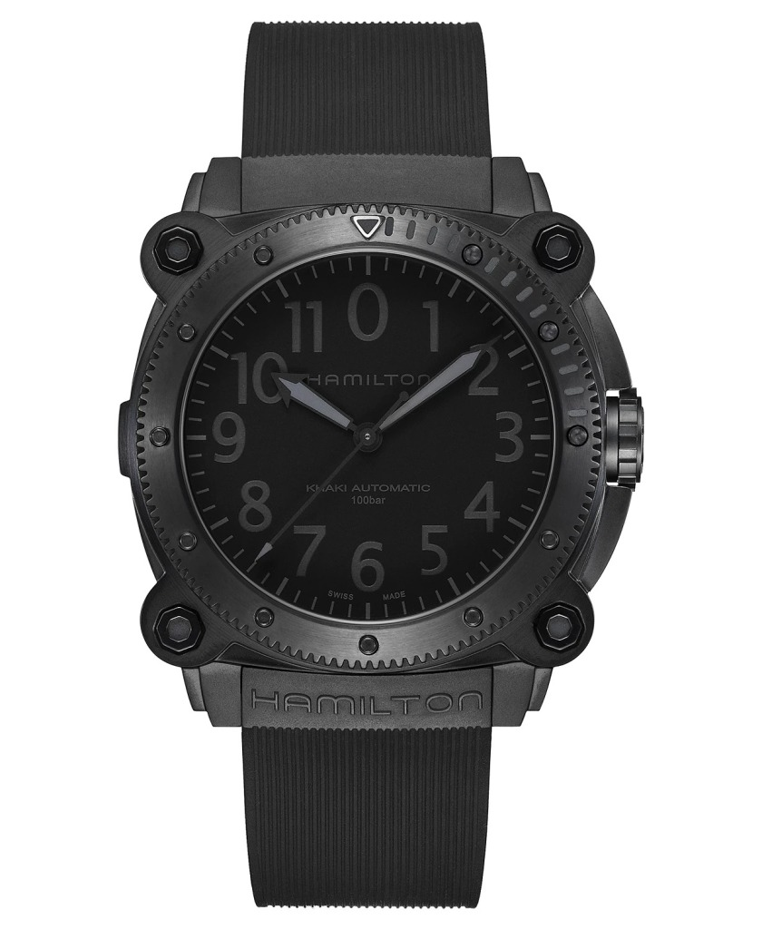 Hamilton-Swiss-Automatic-Khaki-Navy-BeLOWZERO-Black-Rubber-Strap-Watch