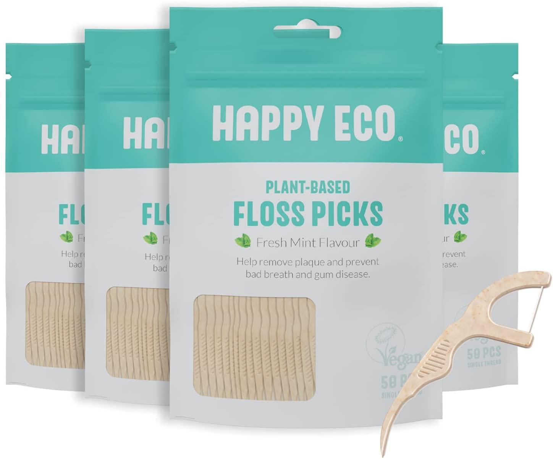Happy Eco Plant-Based Floss Picks
