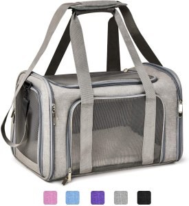 Henkelion dog carrier, how to fly with a dog