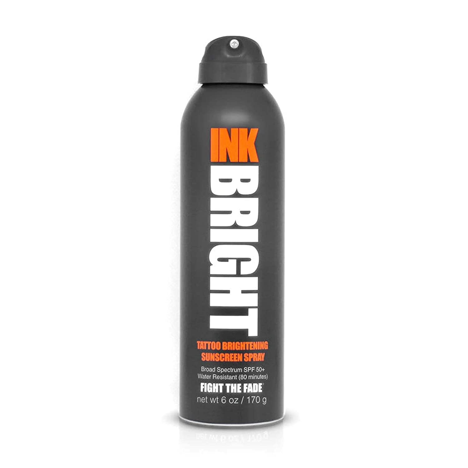 INK Tattoo Brightener Sunscreen Spray with SPF 50; best sunscreen for tattoos