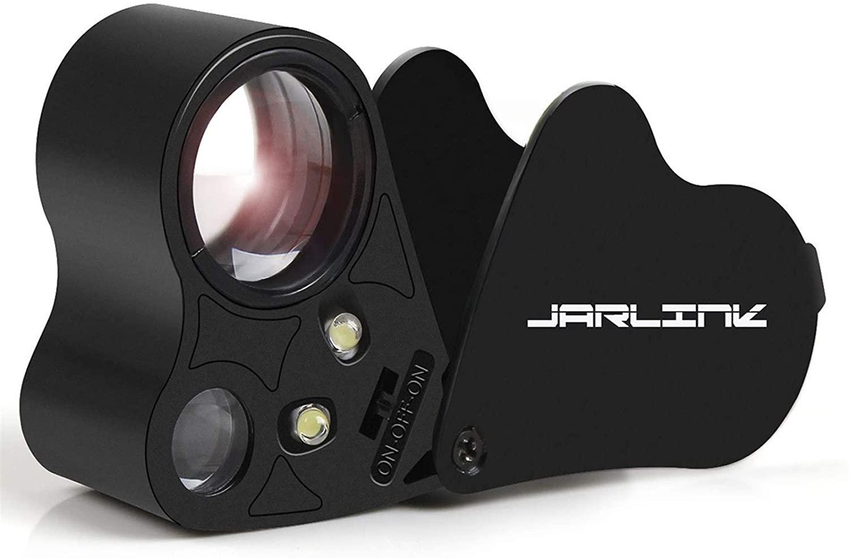Jarlink 30x and 60x Illuminated Jeweler's Eye Loupe Magnifier