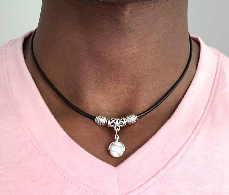 KegMinimalist-Mens-Leather-Magnetic-Choker-Necklace