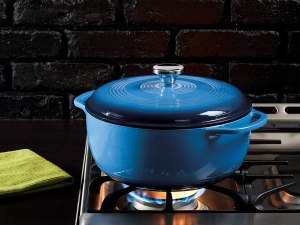 Lodge enameled cast iron pot, cookware deals