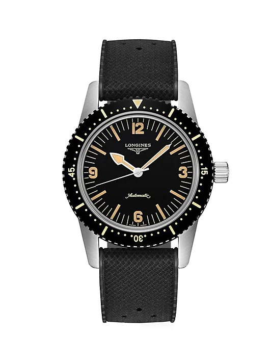 Longines-Skin-Diver-Stainless-Steel-PVD-and-Rubber-Strap