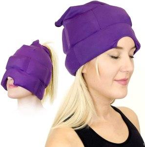 magic gel store headache and migraine relief cap, headache hats