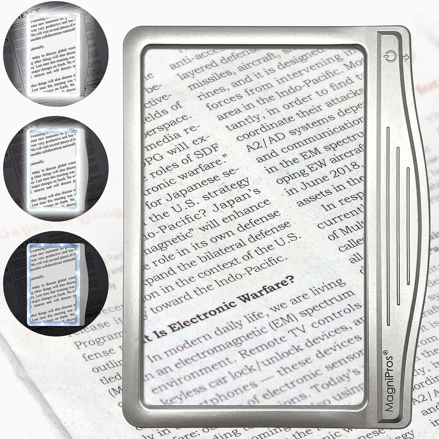 MagniPros 3x Large LED Page Magnifier