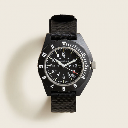 Marathon Watch Company x J. Crew Navigator Black Watch