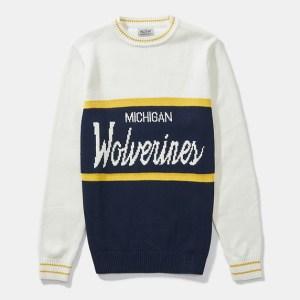 Michigan wolverines sweater, HillFlint college apparel