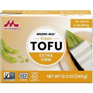 mori-nu extra firm tofu, meat alternatives
