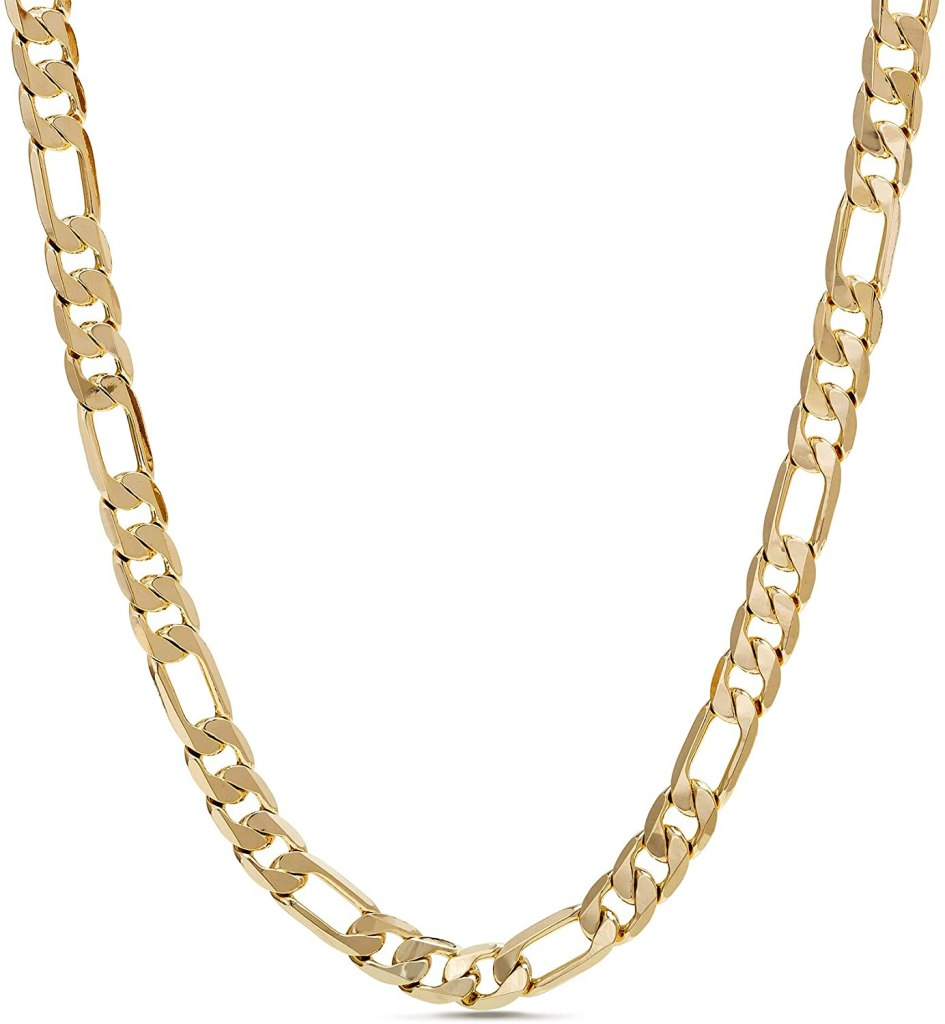 Nautica-1mm-3mm-Figaro-Chain-Necklace-for-Men-or-Women-in-Yellow-Gold-Plated-Brass