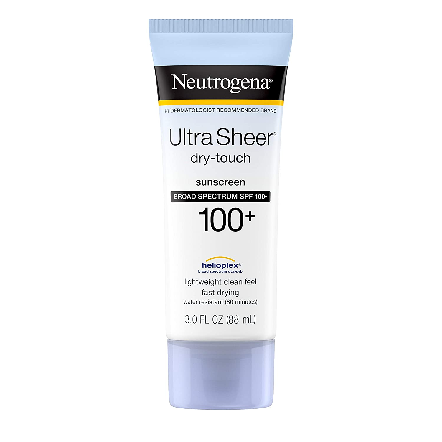Neutrogena Ultra Sheer Dry-Touch Water Resistant and Non-Greasy Sunscreen Lotion; best sunscreen for tattoos