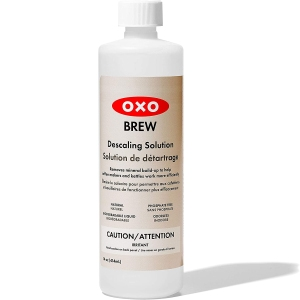 OXO descaling solution, descalers for coffee pots