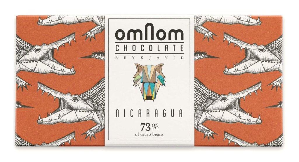 Omnom Chocolate 73% Nicaragua Icelandic Bean To Bar Chocolate, best dark chocolate