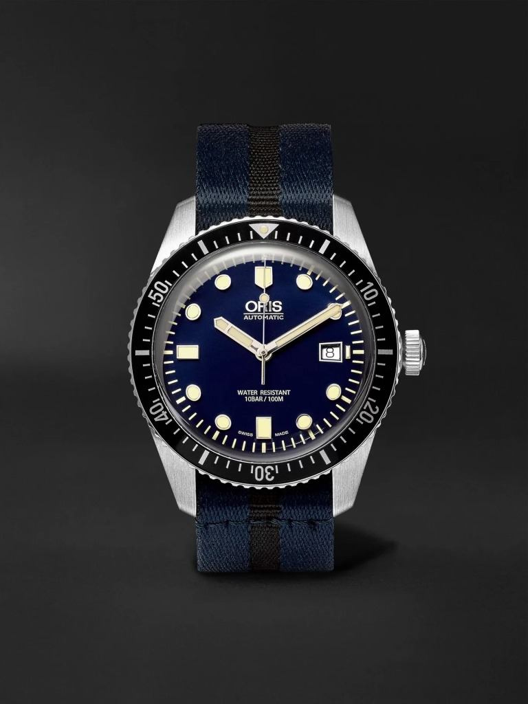 Orris-Divers-Sixty-Five-Automatic-42mm-Stainless-Steel-Canvas-Watch