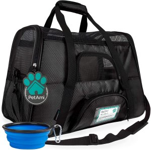 PetAmi pet travel carrier, how to fly with a dog