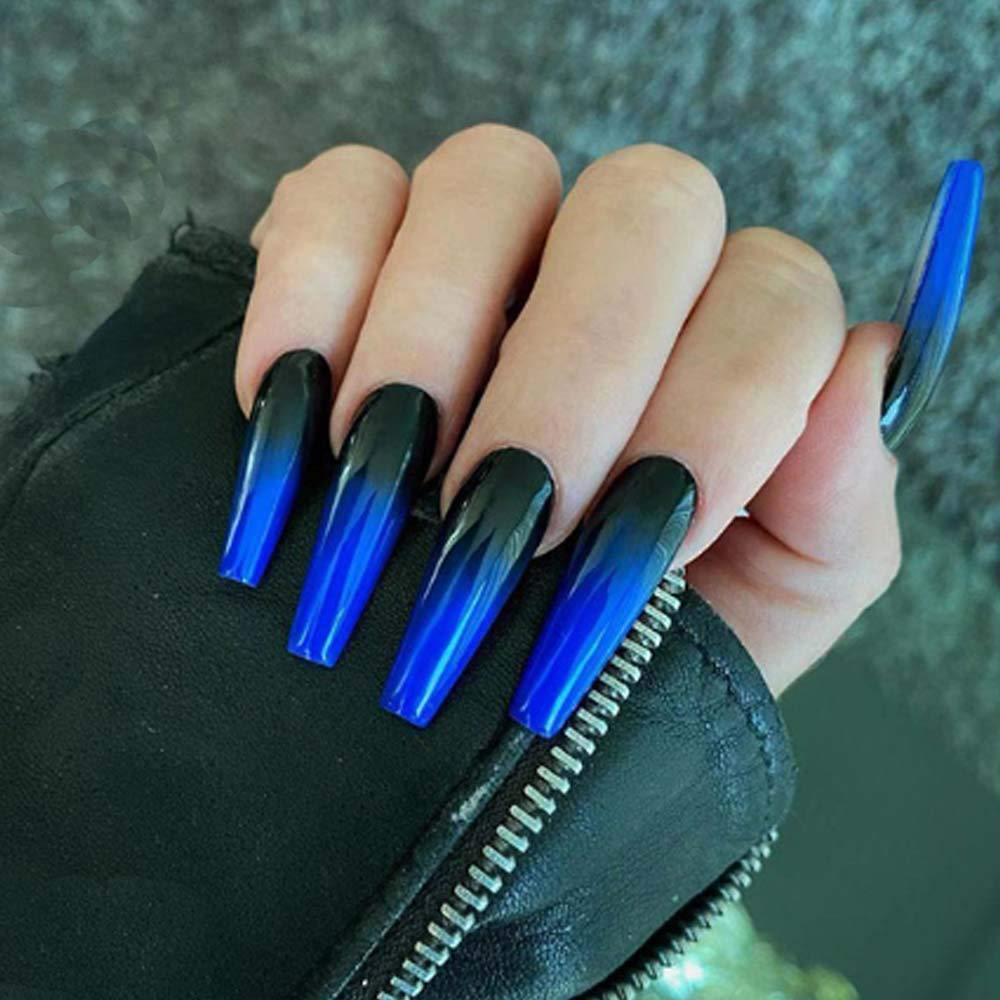 Poliphili 24Pcs Super Long Gradient Press on Nails