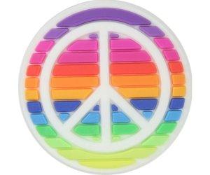 crocs jibbitz rainbow peace sign