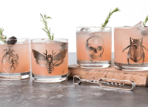 Counter Couture Design Halloween Macabre 11oz Wine Glass Set