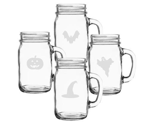 Cathy's Concepts Halloween Mason Jars (Set of 4)