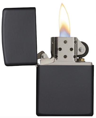 Zippo Windproof Matte Black Pocket Lighter