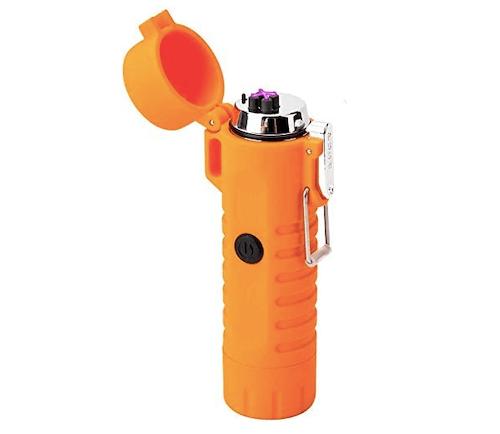Icfun Wateproof Plasma Lighter With Flashlight