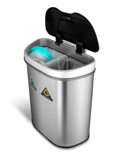 NINESTARS 18.5 Gallon Motion Sensor Auto Open Recycling Bin