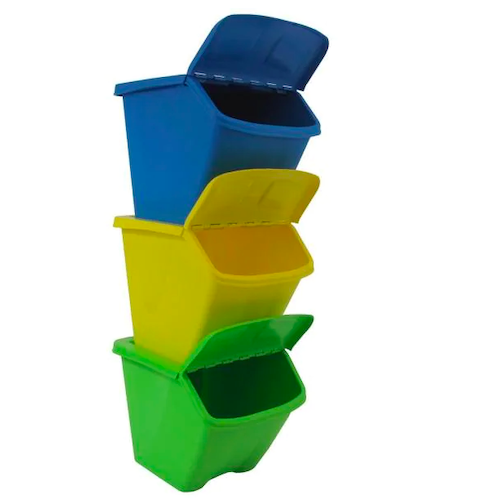 Taurus 30 Gallon Multi-Color Stackable Recycling Bins