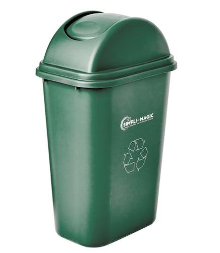Simpli-Magic Swing-Top Lid Recycle Bin