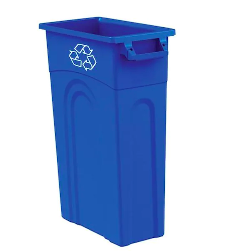 United Solutions 23-Gallon Blue Recycling Highboy Waste Container