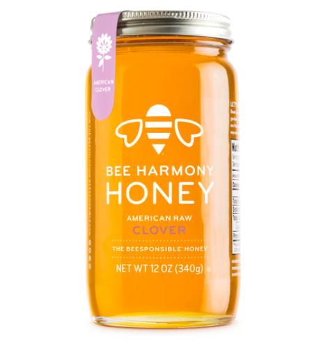 Bee Harmony American Raw Clover Honey