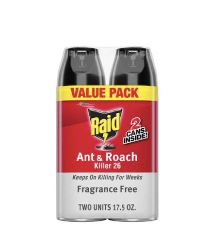 Raid Ant & Roach Killer Fragrance-Free Spray