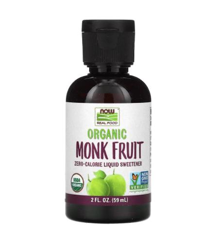 NOW Foods Organic Monk Fruit Liquid Sweetener