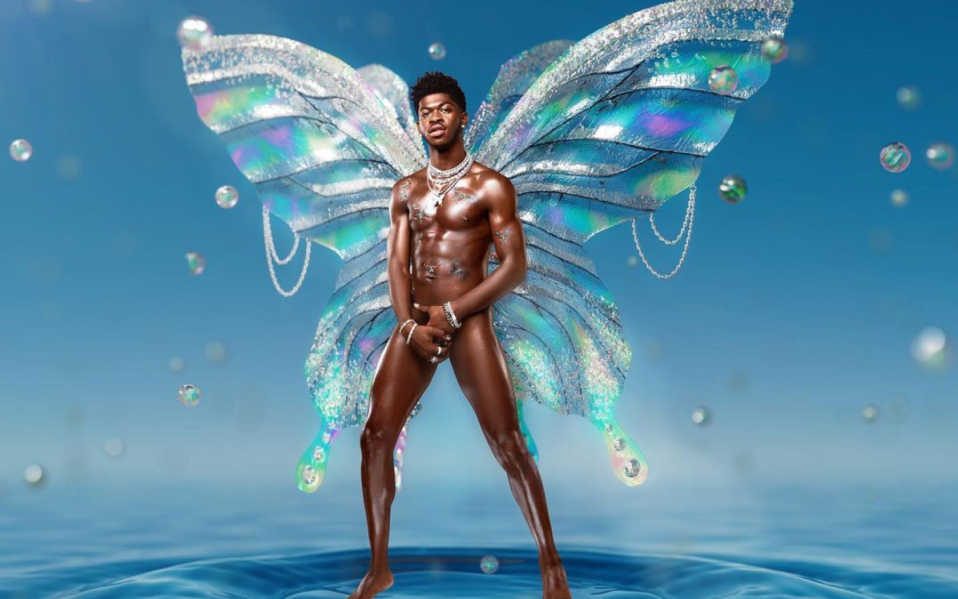 Lil Nas X with wings
