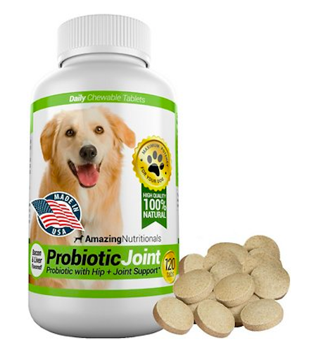 Amazing Nutritionals Probiotic Joint & Hip Support Daily Dog Supplement