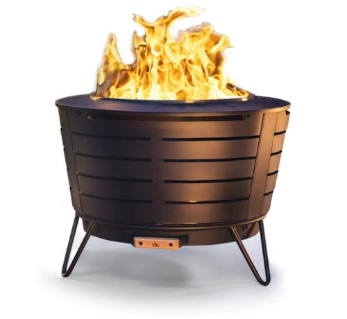 TIKI Stainless Steel Low Smoke Fire Pit